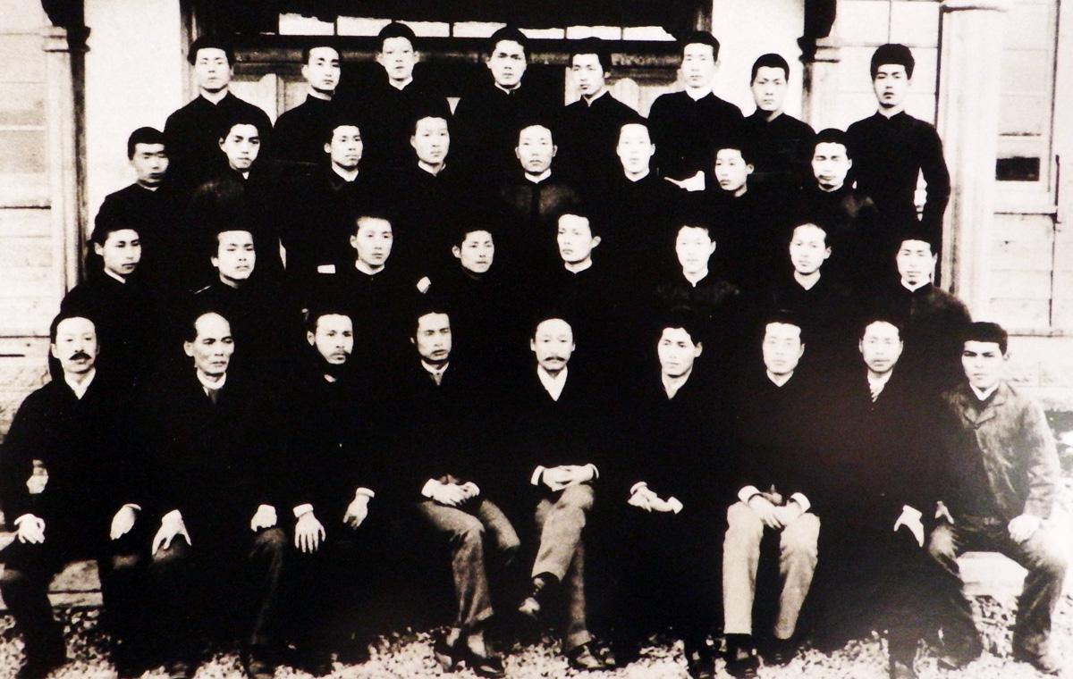 会津尋常中学校 第一回卒業記念