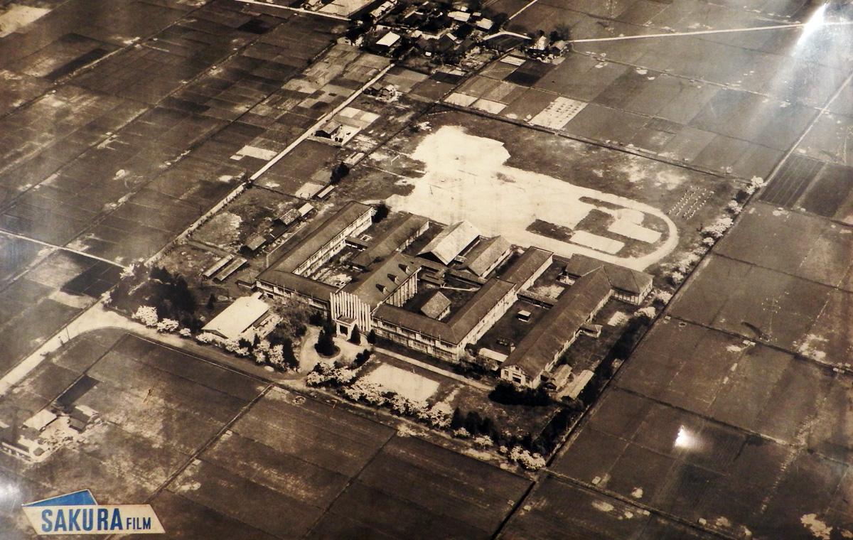 会津高等学校 旧校舎全景