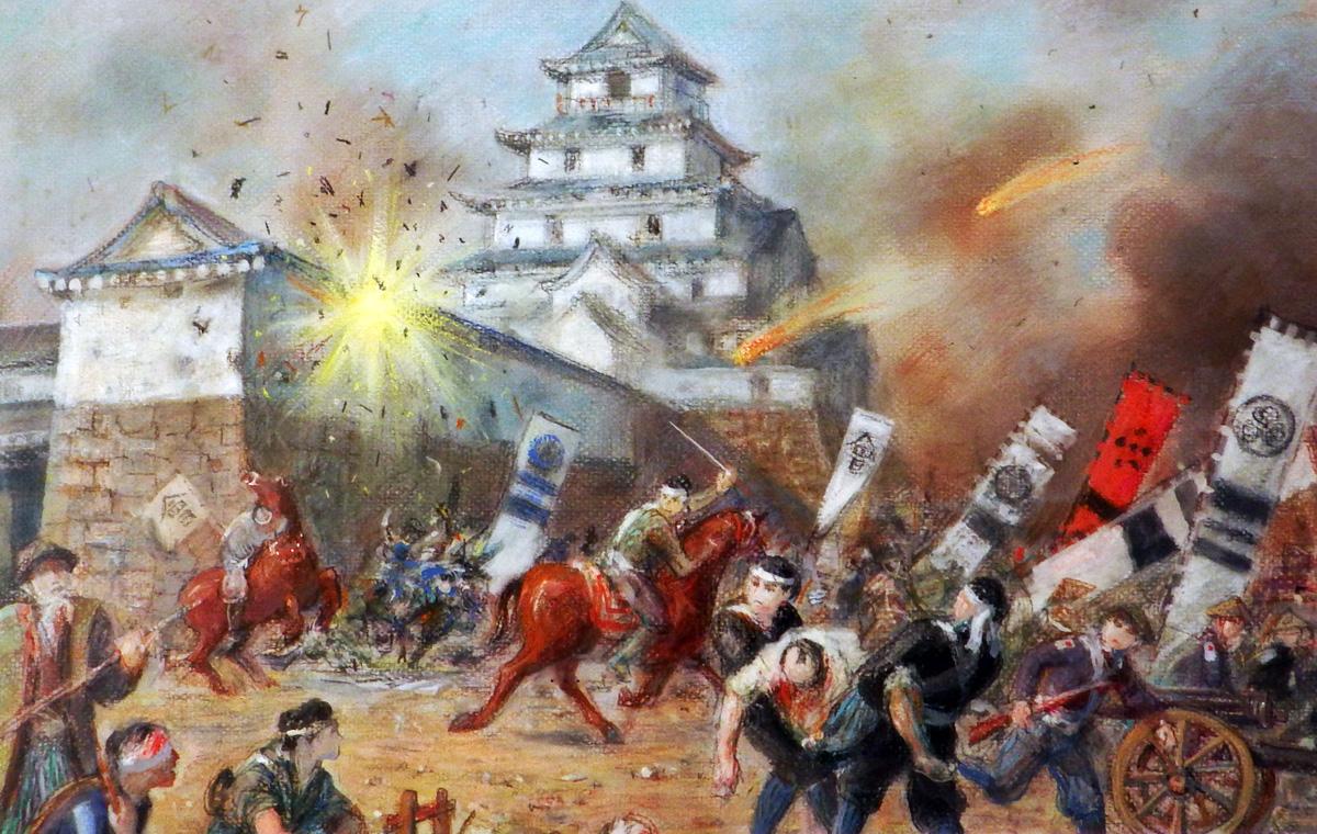 白虎隊籠城戦の図
